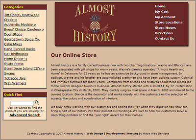 Almost History Web Design Review