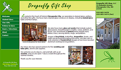 Dragonfly Gift Shop Web Design Review