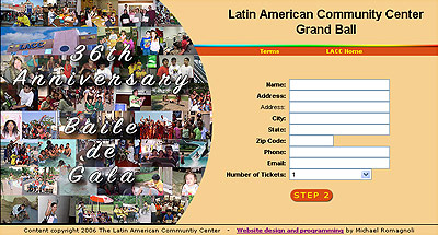 Latin American Community Center Wilmington Delaware Grand Ball Website Design Review