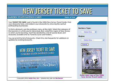 New Jersey Ticket to Save Website Design Review