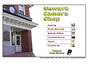 Newark Camera Shop Website Design Review